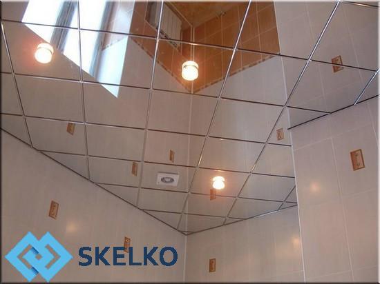 Зеркальная плитка на потолок